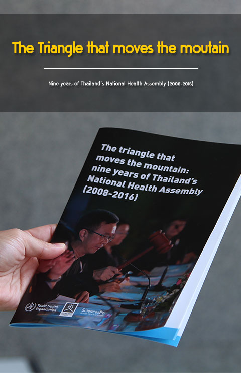 The triangle that moves the mountain : nine years of Thailand's National Health Assembly (2008-2016) NHCO The National Health Commission office