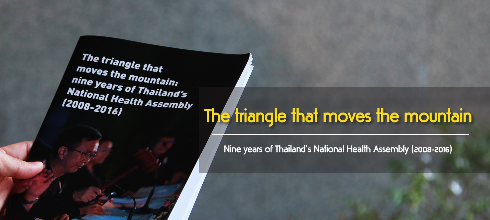 Book Banner Triangle that moves the mountain NHCO The National Health Commission office